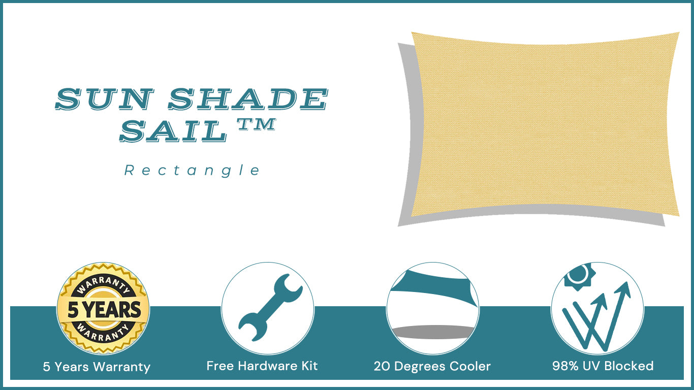 Quictent Rectangle Shade Sail