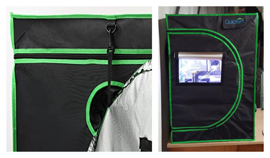 Easy observation with hooks and observation window: Quictent grow tents