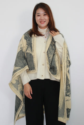 blanket scarf as shawl