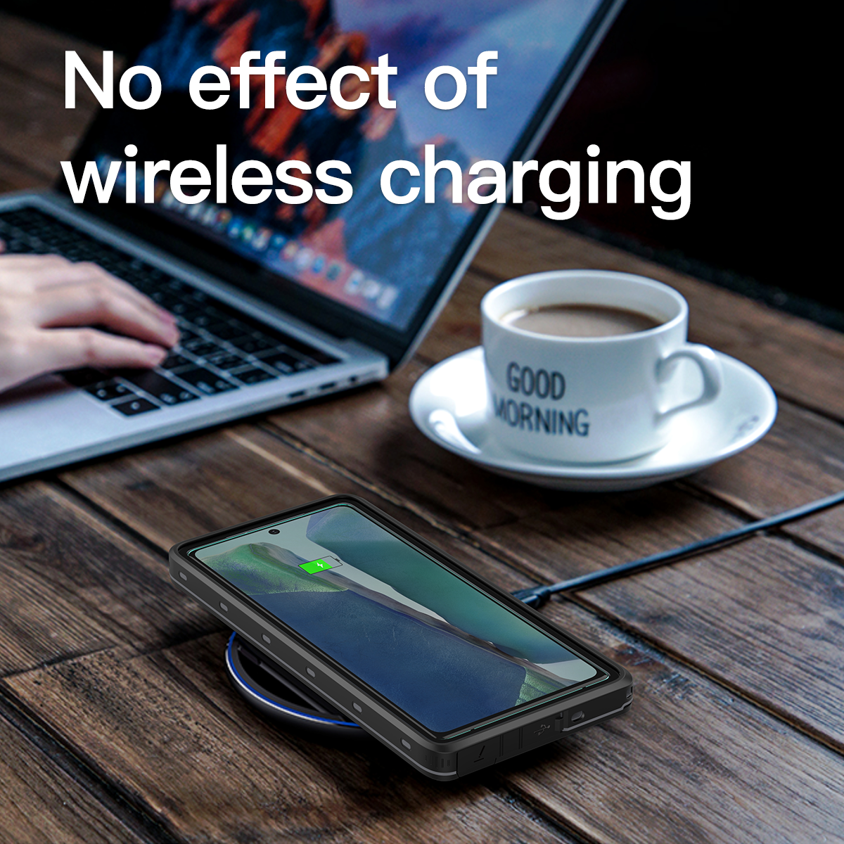 Samsung note 20 waterproof cases support wireless charging