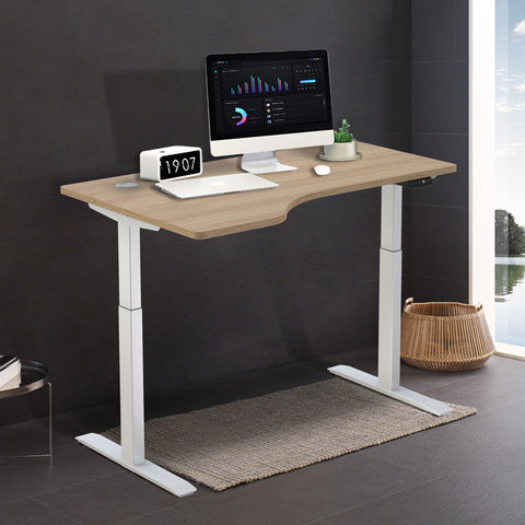 Smart lifting and lowering desk, work station and household working desk