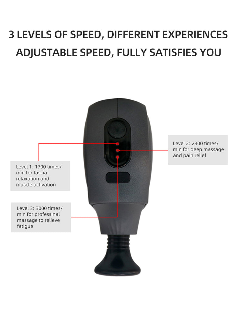 Hi5 FitPower 4 Heads Vibrating Mini with 3 levels of speed, different experiences adjustable speed