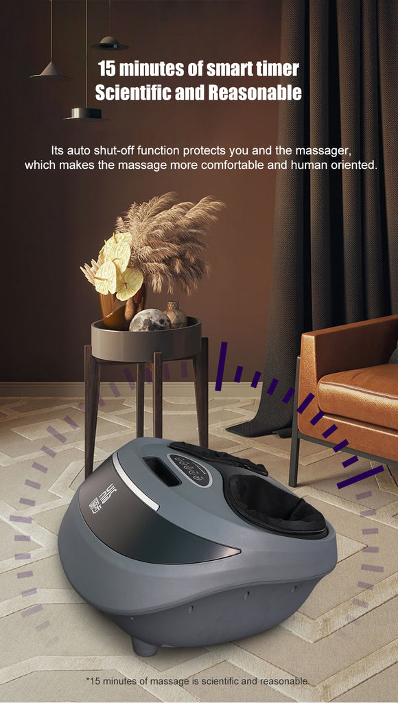 Hi5 Marcelo Electric Foot Massager multiple modes of massage with Heat and Deep Kneading, 3 Level of Speed