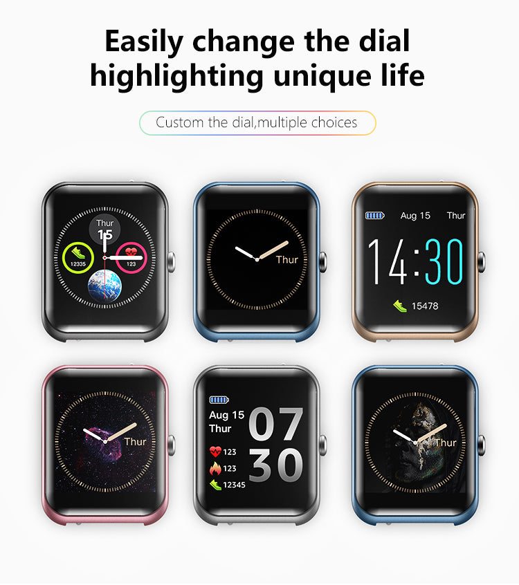 S20 Fitness Tracker Smart Watch with IP68 Waterproof, Activity Tracker with Heart Rate, Sleep Monitor, Sedentary Reminder, Calorie Counter, and Notification Reminder