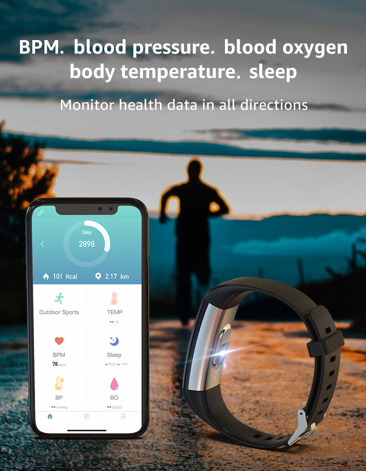 Hi5 S5 Fitness Tracker Watch with IP68 Waterproof, 16 Sports Modes, Activity Tracker with Heart Rate, Sleep Monitor, Sedentary Reminder, Calorie Counter, and Notification Reminder