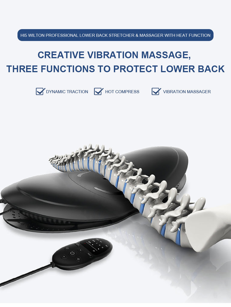 Hi5 Wilton Professional Back Stretcher for lower back pain relief with Heating System