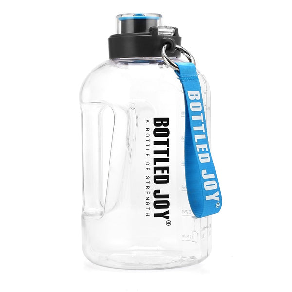 Food safe half gallon large water bottle with rope