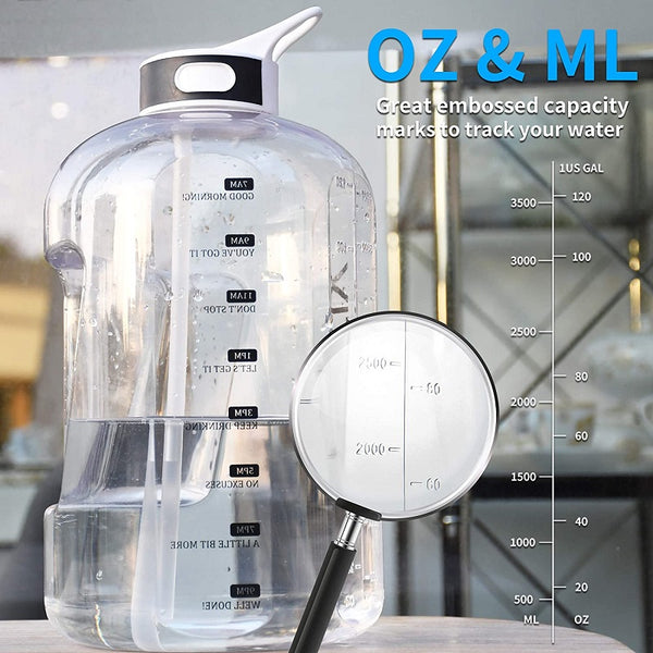 Large Capacity Water Bottle with Straw