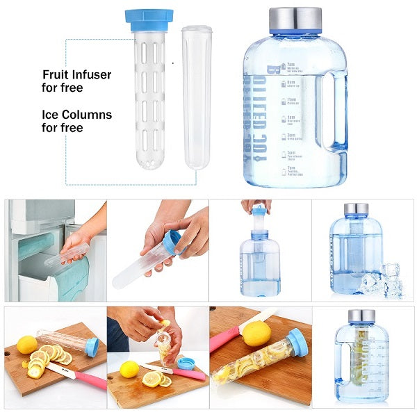 2.2L Large Capacity Plastic Gym Sports Water Bottle