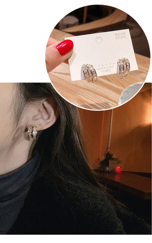 """Move On"" S925 Silver Diamond Earring"