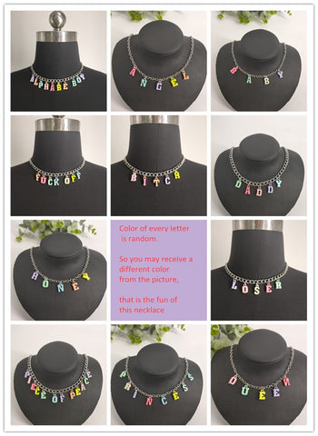 Colorful Random Color Choker Necklace