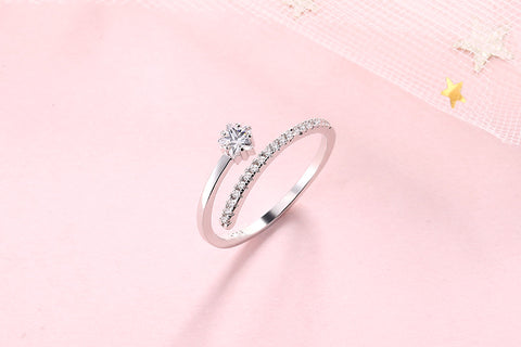 """Bling Dream"" Diamond Star Ring"