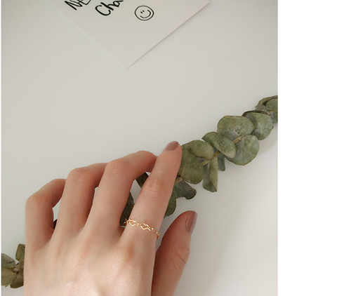 """Fall in Love"" Heart Pearl Ring"