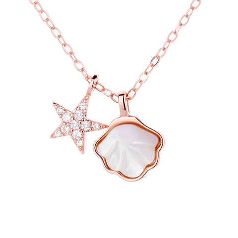 Summer Beach Sterling Silver Shell Necklace
