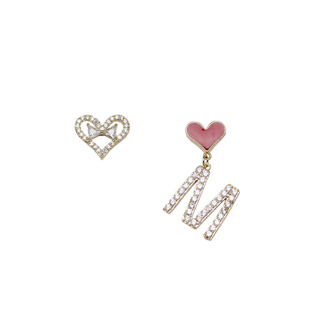 """Miss Love"" S925 Hook Diamond Earring"