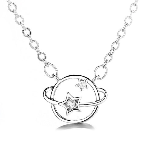 """""""Light of Surround"""" Sterling Silver Necklace"""