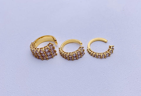 """Bling Rows"" Diamond Earring"