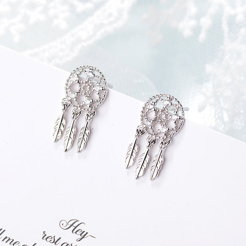 """Dreamcatcher"" Sterling Silver Earring"