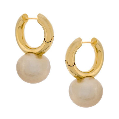 """French elegance"" Pearl Gold Plating Earring"