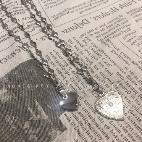 Heart Chain Pendant Cute Necklace