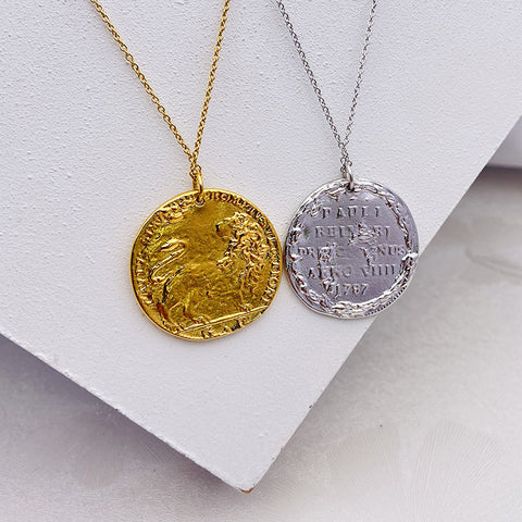 """Lion Coin"" Relief Craft Necklace"