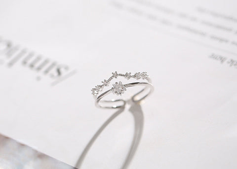 """Love Story"" Sterling Silver Open Ring"