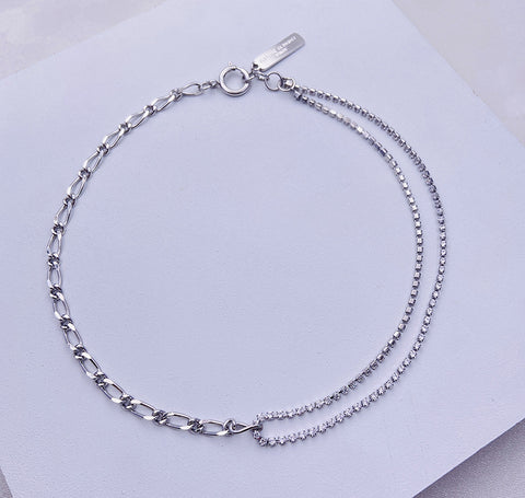 """Oh Friend"" White Gold Plating Necklace"