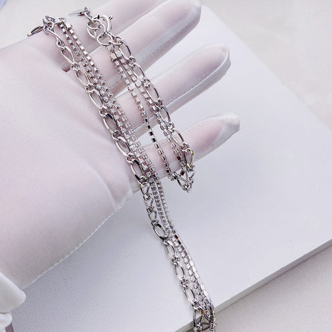 """""""Oh Friend"""" White Gold Plating Necklace"""