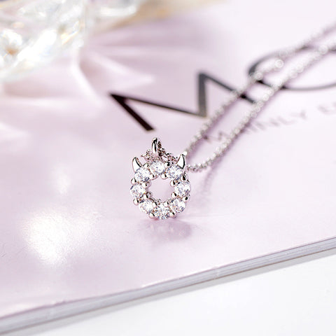 Pastel Evil Sterling Silver Diamond Necklace