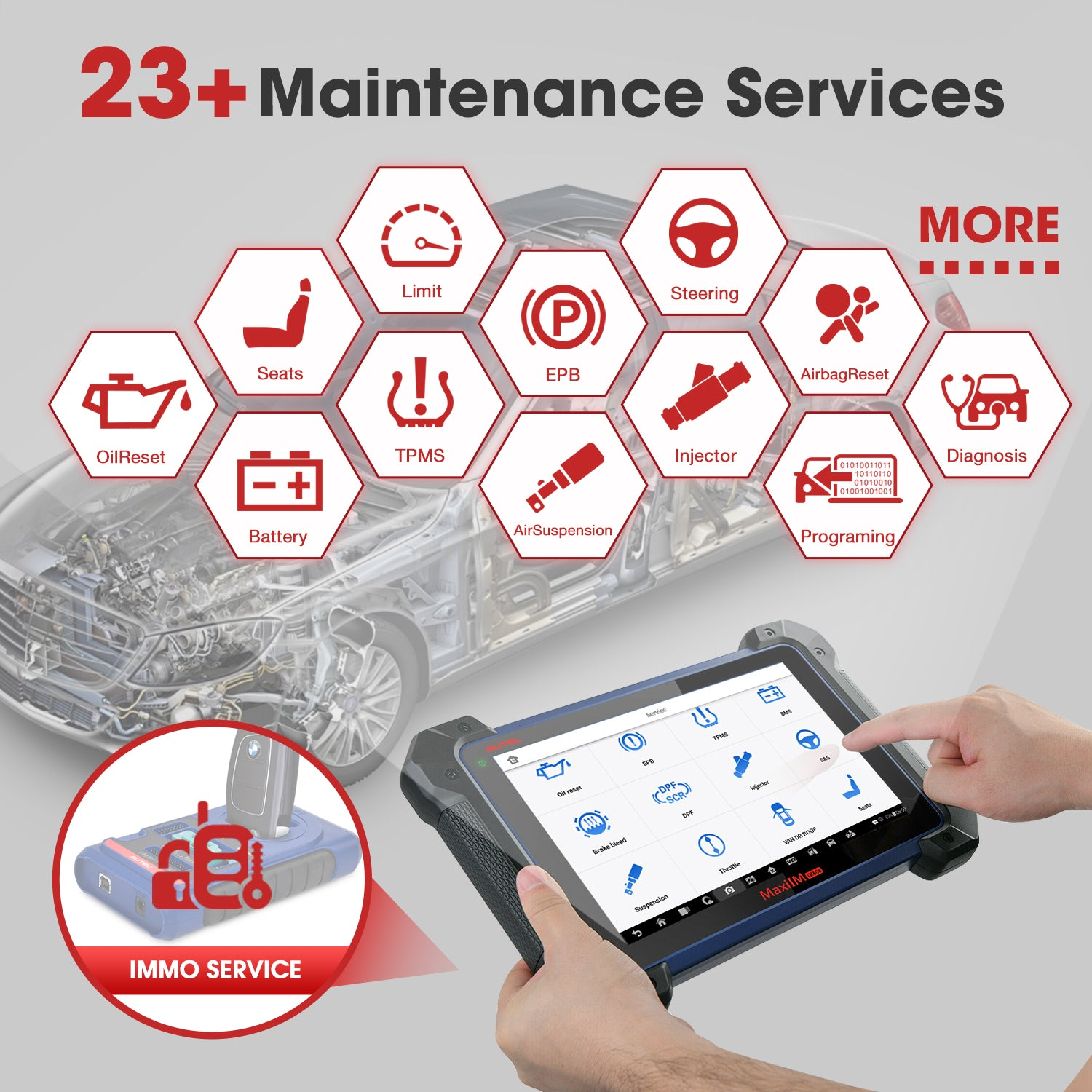 IM608 PROKPA can provides 23+ maintenance service functions