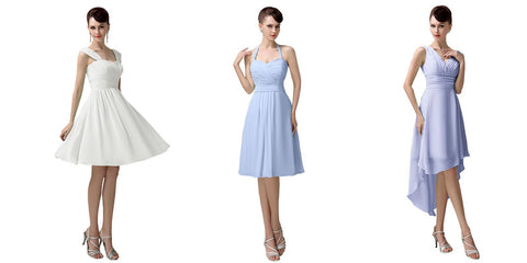 Short and Simple Bridesmaid Dresses