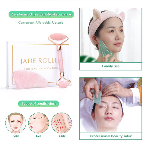 Face Skin Massage Jade Roller