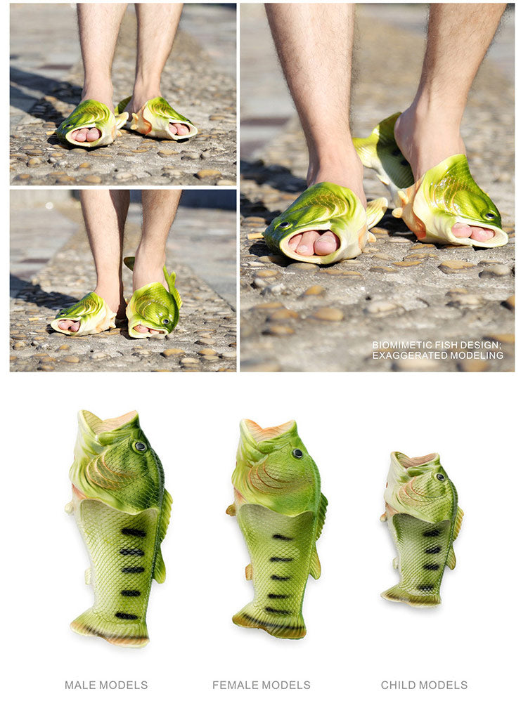Funny Beach Fish Slippers