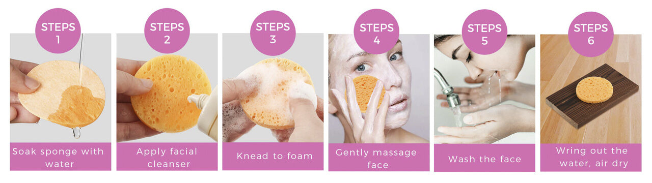 How to Use 100% Natural Compressed Facial Sponges