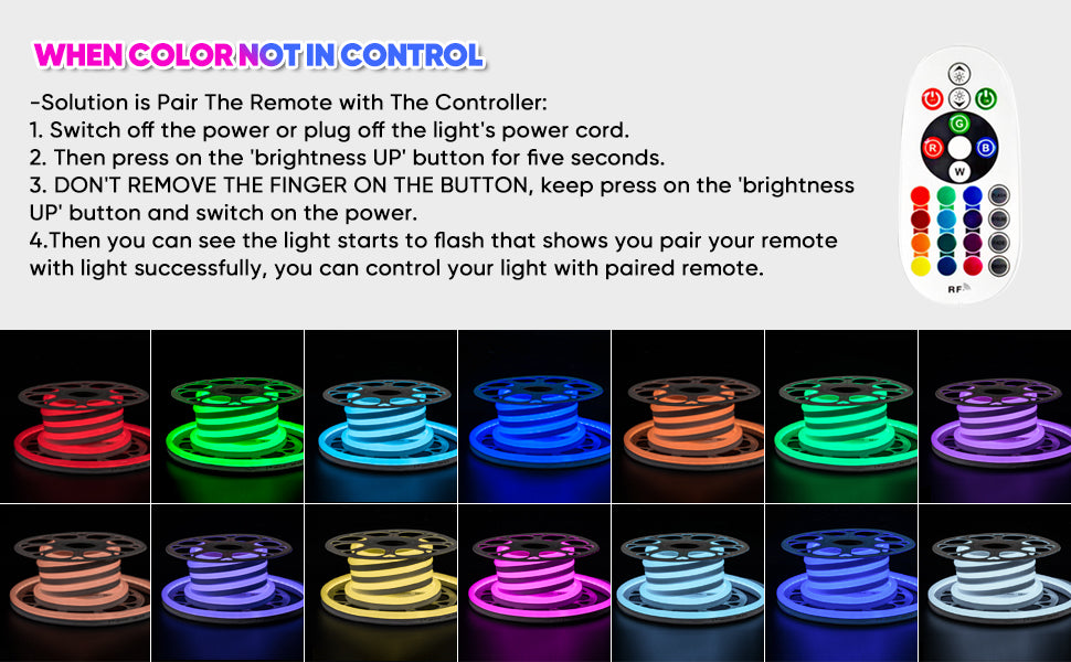 Shine Decor LED RGB Neon Rope Lights
