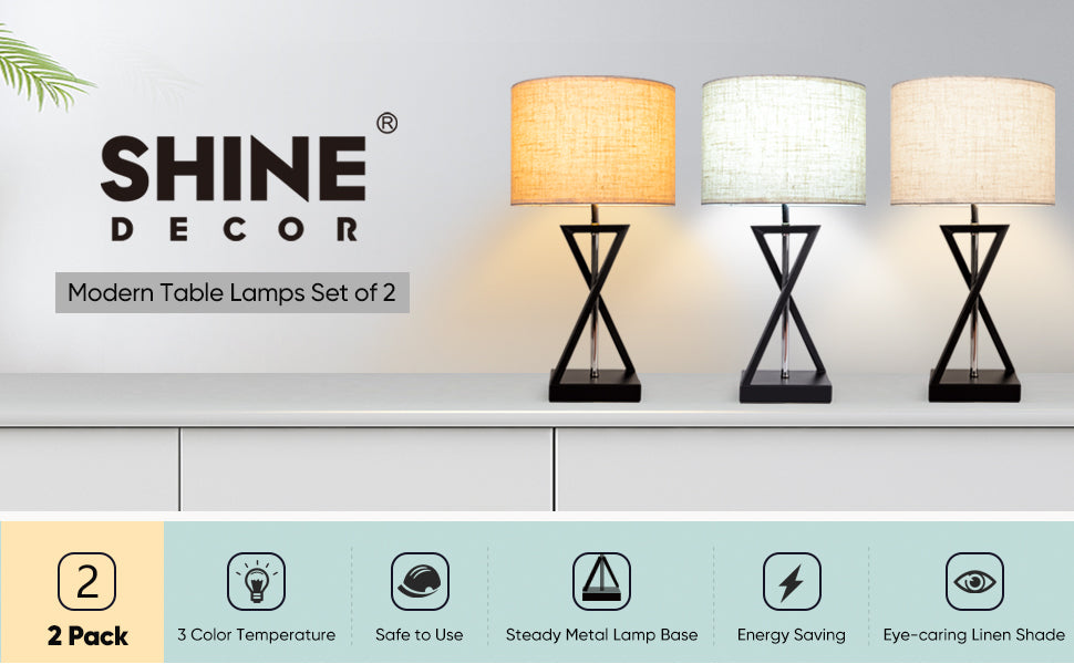 Shine Decor Lamp Set of 2