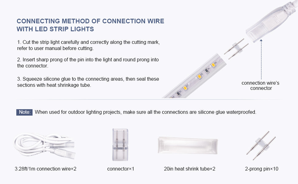 Shine Decor LED strip lights connecting parts