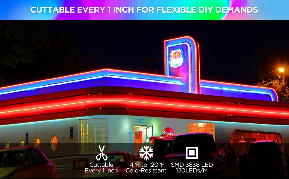 Shine Decor LED RGB Silicone Neon Rope Lights