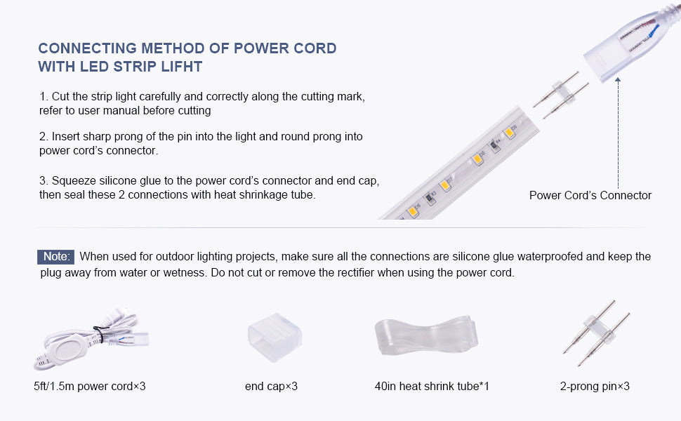shine decor power cord