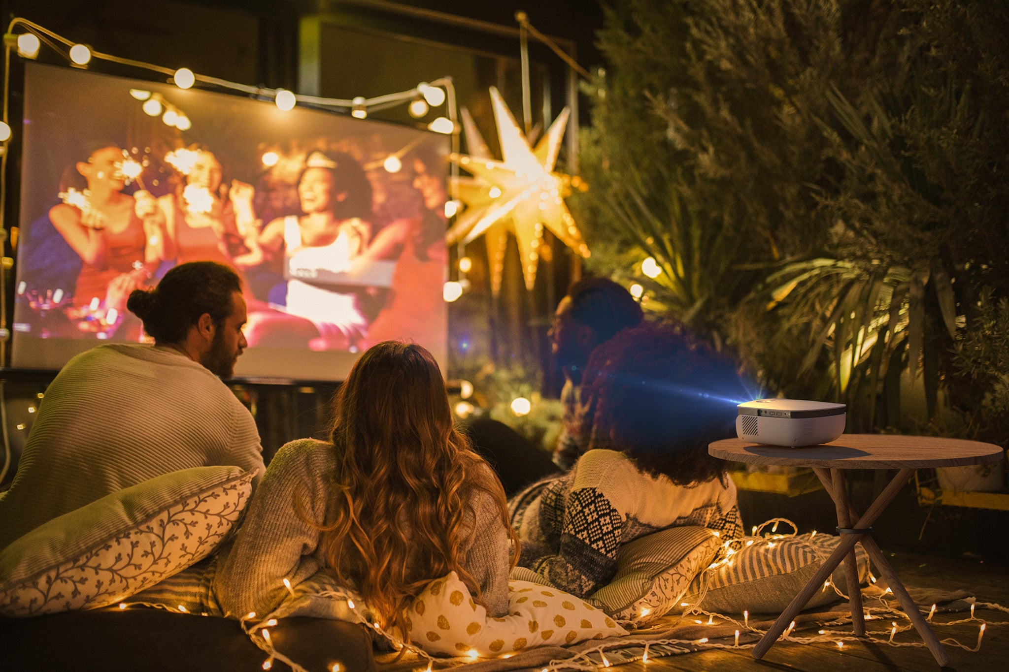 Have an epic outdoor movie party with your friends!