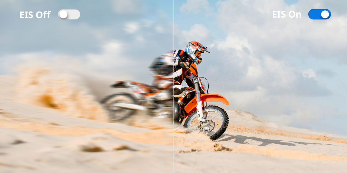 5 Reasons the COOAU-SPC03 Action Camera is the best for Beginners;  Built-in image stabilization (EIS) to maintain the stabilization from frame to frame in order to avoid shaky videos.