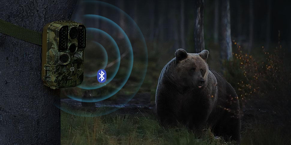 COOAU Trail Camera, monitoring the wildlife with WiFi and Bluetooth function.