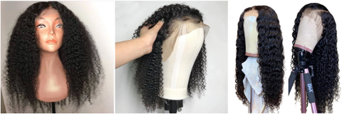 Afro kinky curly jerry curly deep wave lace frontal wig full lace wig 360 lace wig heymywig.com