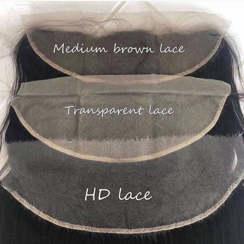 Medium brown transparent lace hd invisible swiss lace color for african american black girls