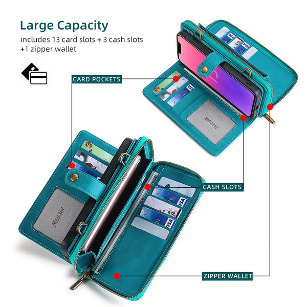 3-in-1 phone case wallet large capacity