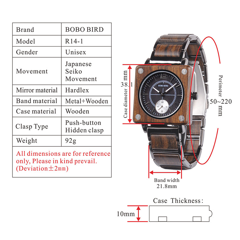 Engraved Wooden Watch 12