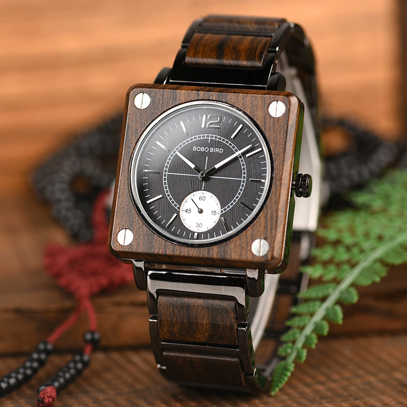 Engraved Wooden Watch 05