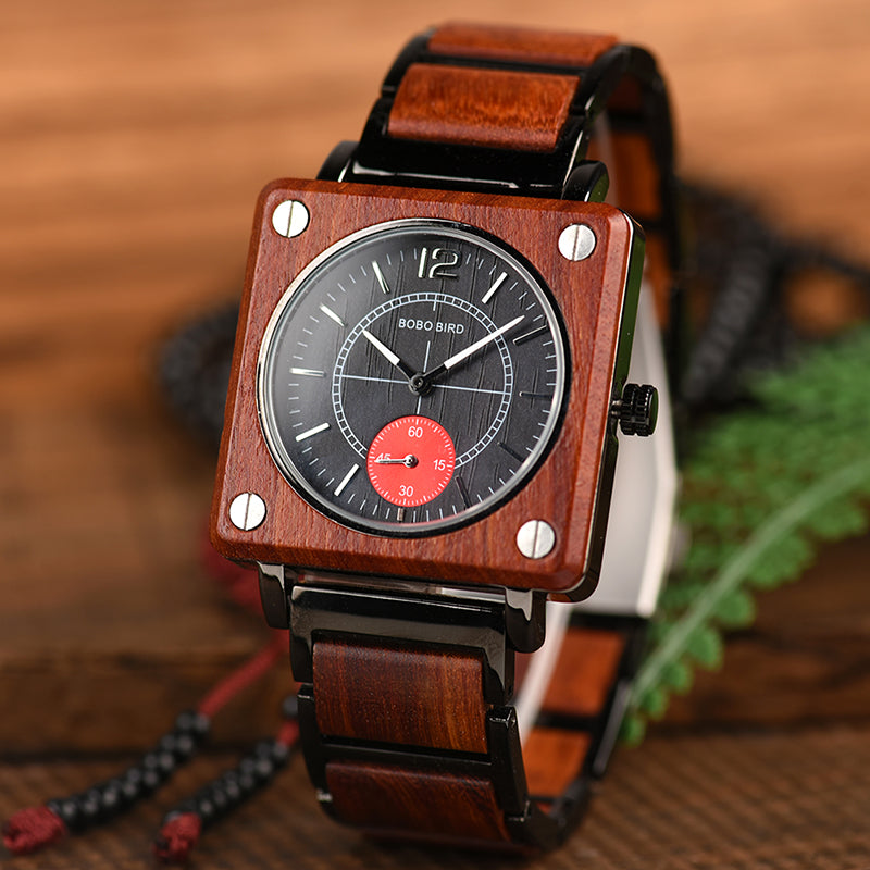 Engraved Wooden Watch 04
