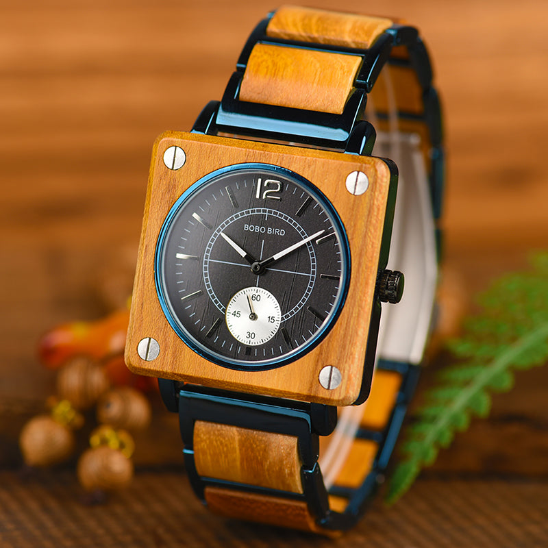 Engraved Wooden Watch 06