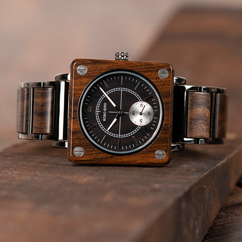 Engraved Wooden Watch 10